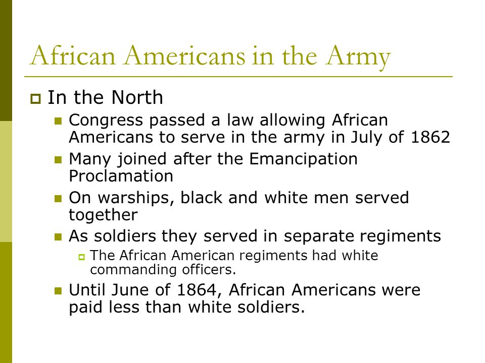 African Americans in the Army