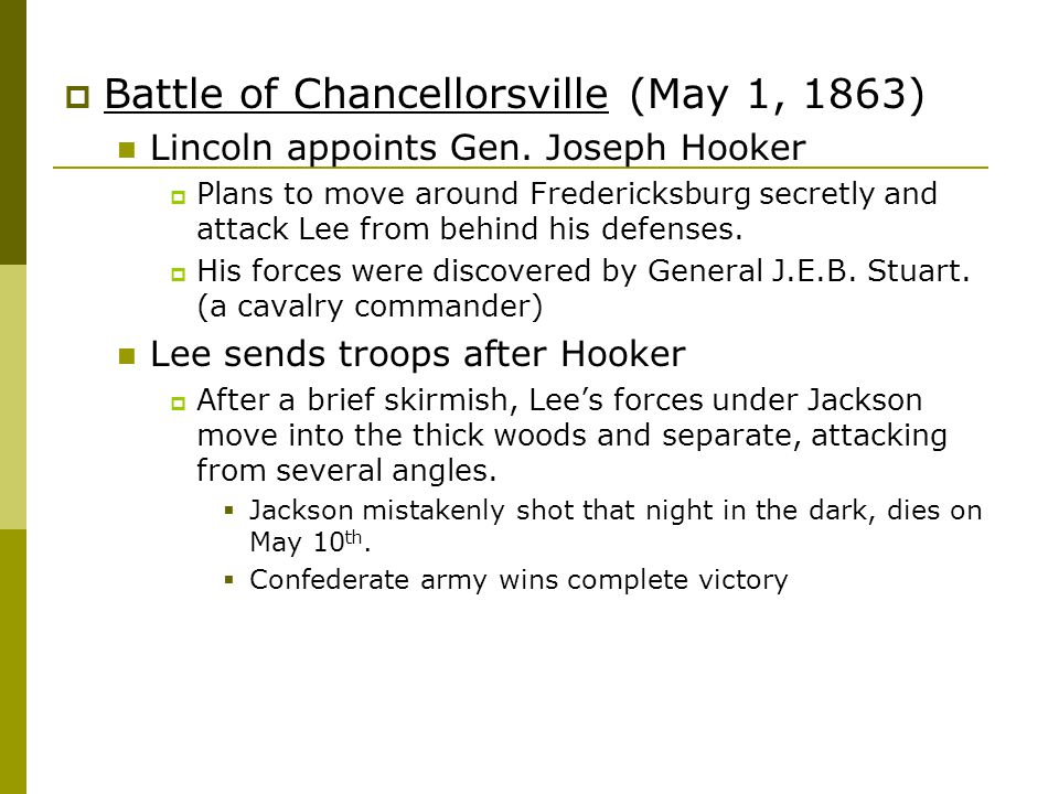 Battle of Chancellorsville (May 1, 1863)