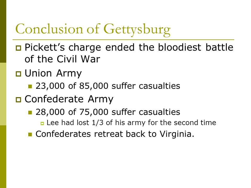 Conclusion of Gettysburg