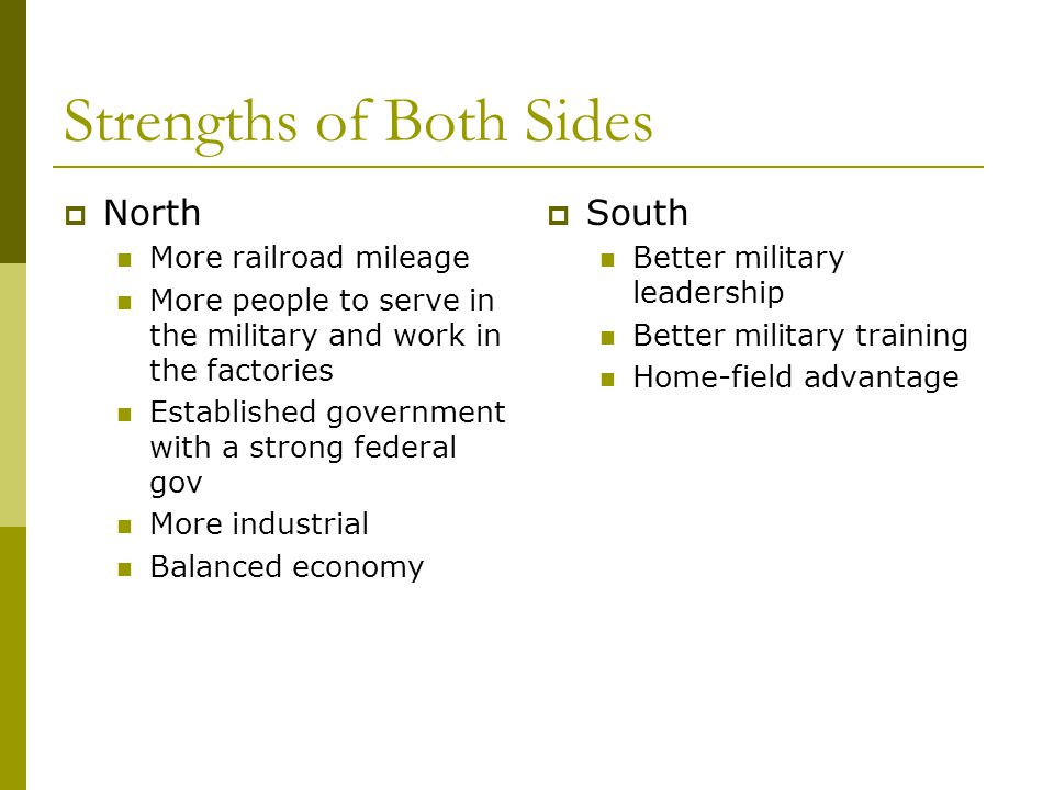 Strengths of Both Sides