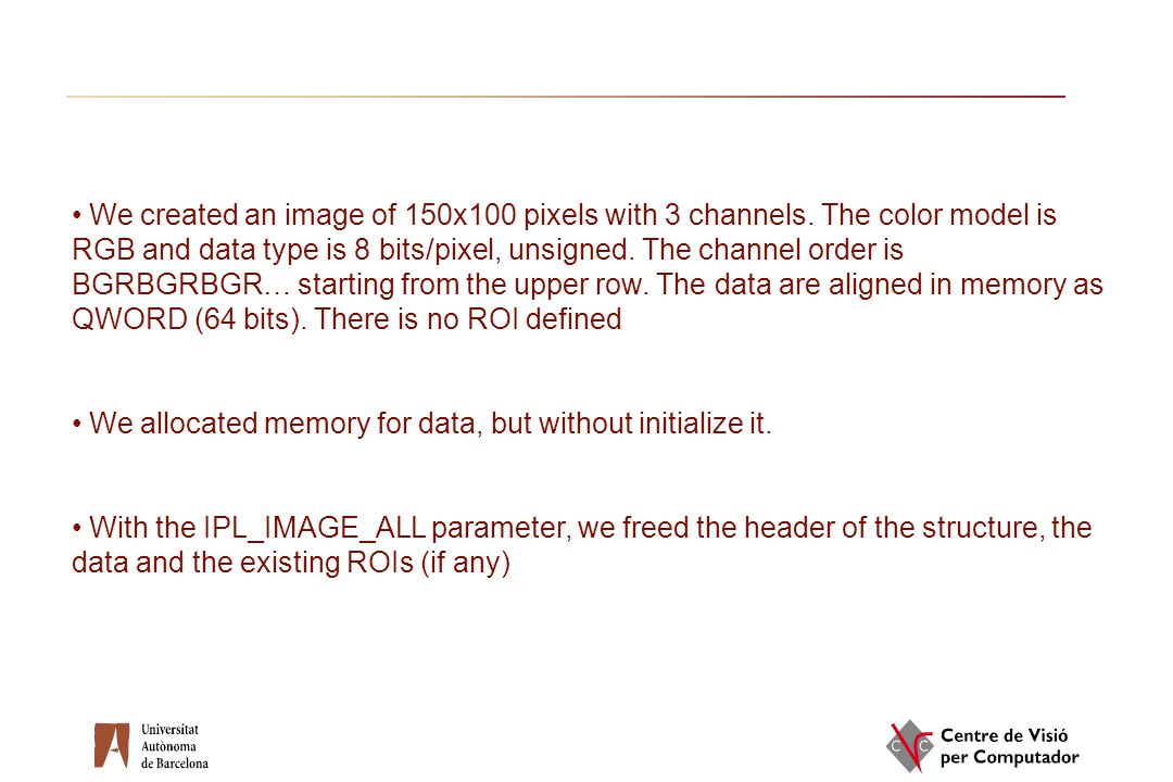 We created an image of 150x100 pixels with 3 channels