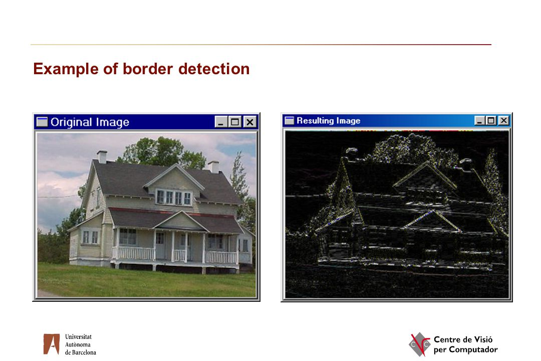 Example of border detection