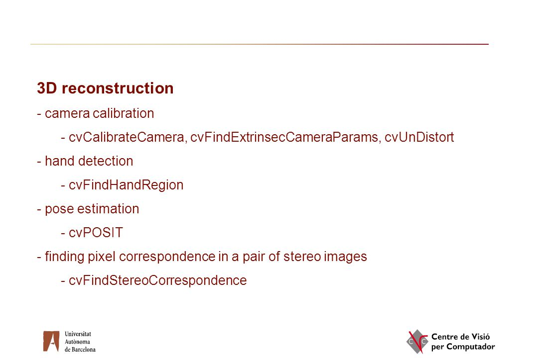 3D reconstruction - camera calibration