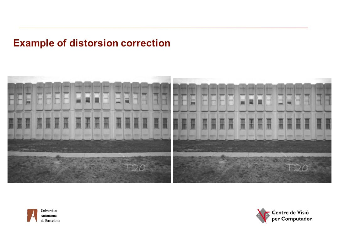 Example of distorsion correction
