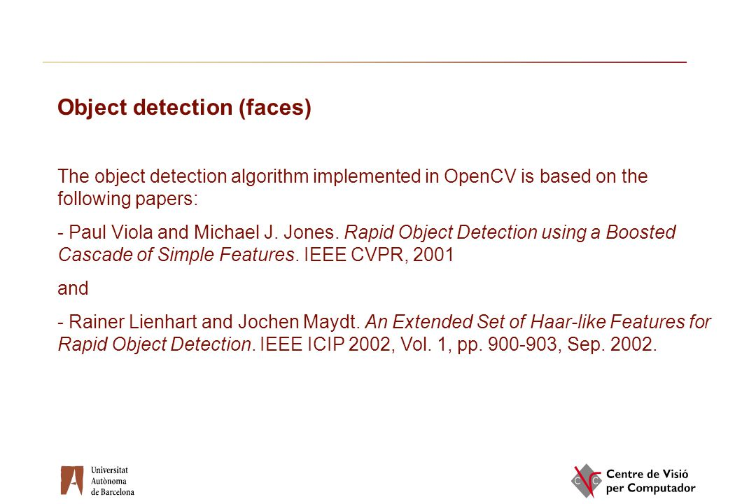 Object detection (faces)
