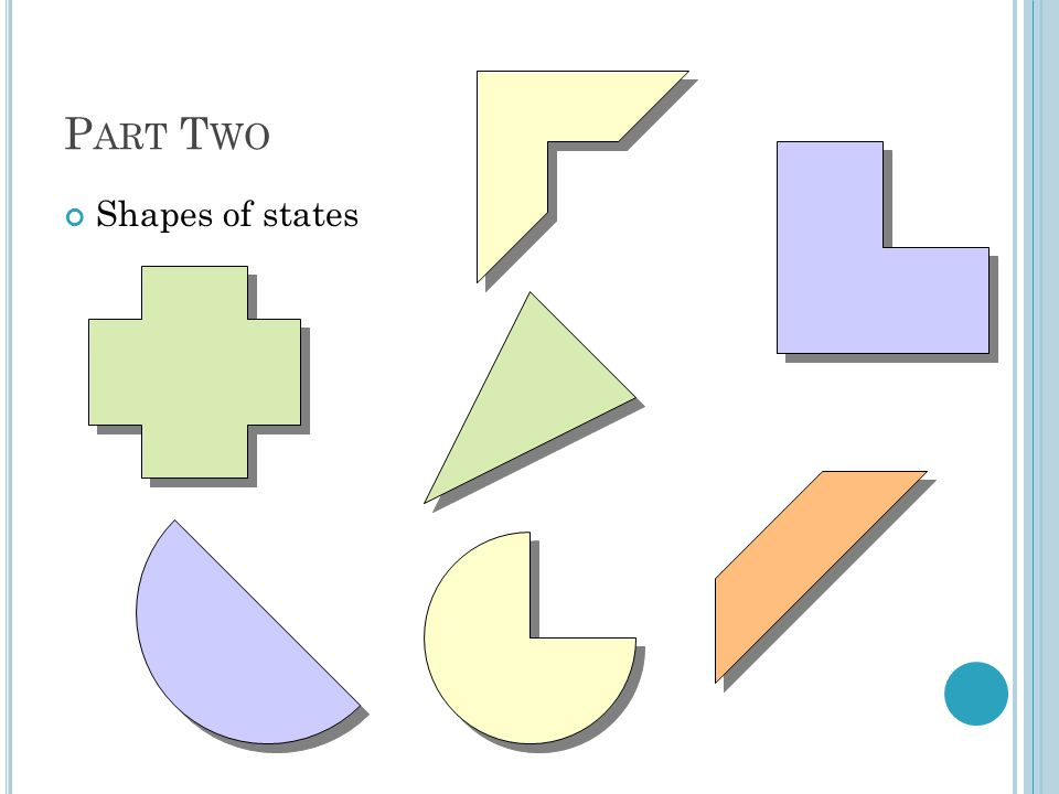 Part Two Shapes of states