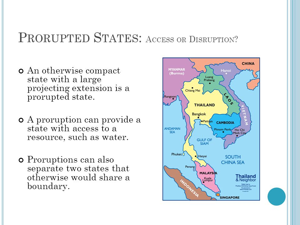 Prorupted States: Access or Disruption