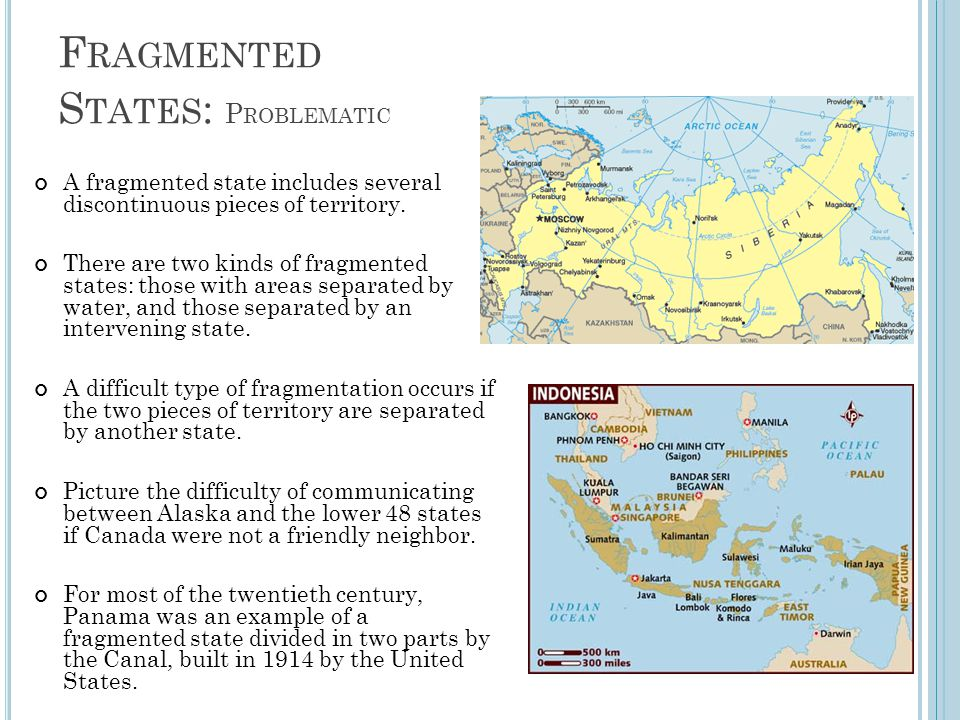 Fragmented States: Problematic