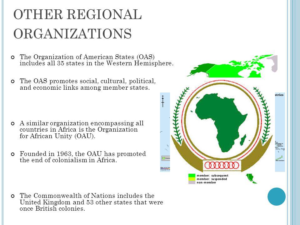 OTHER REGIONAL ORGANIZATIONS