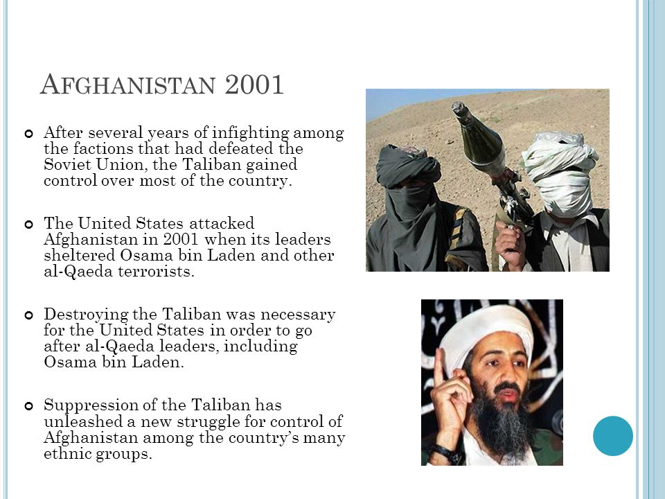 Afghanistan 2001
