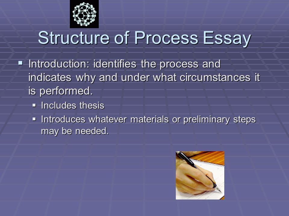 Structure of Process Essay