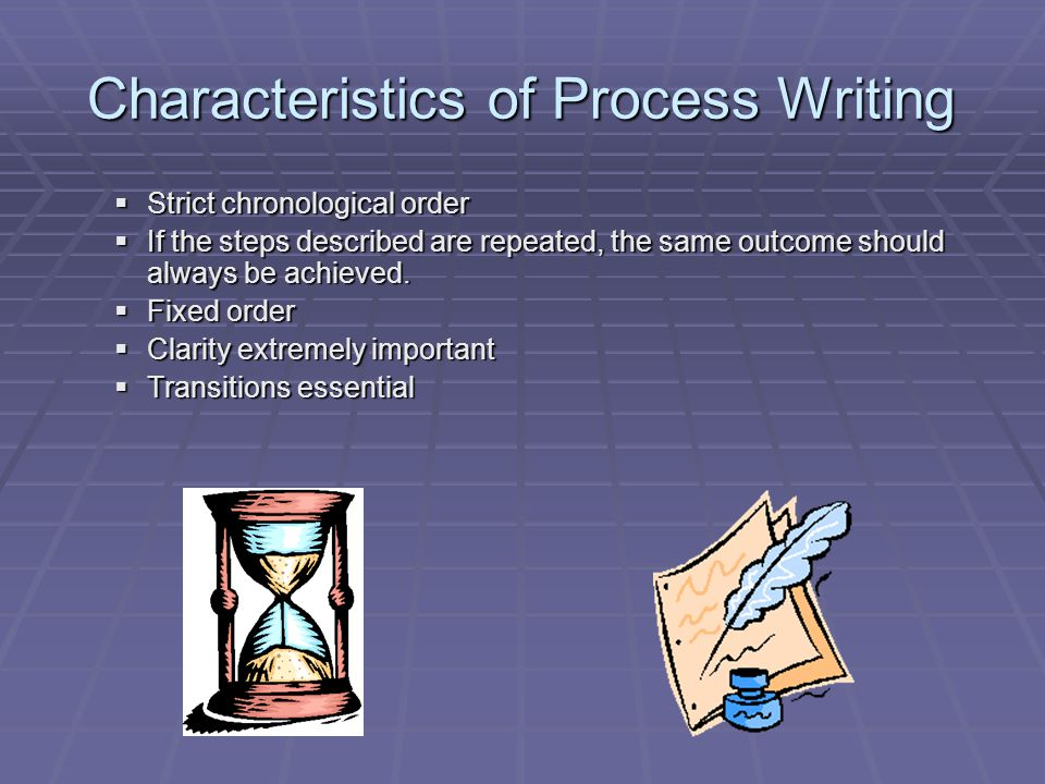 Characteristics of Process Writing