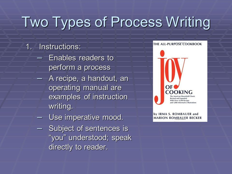 Two Types of Process Writing
