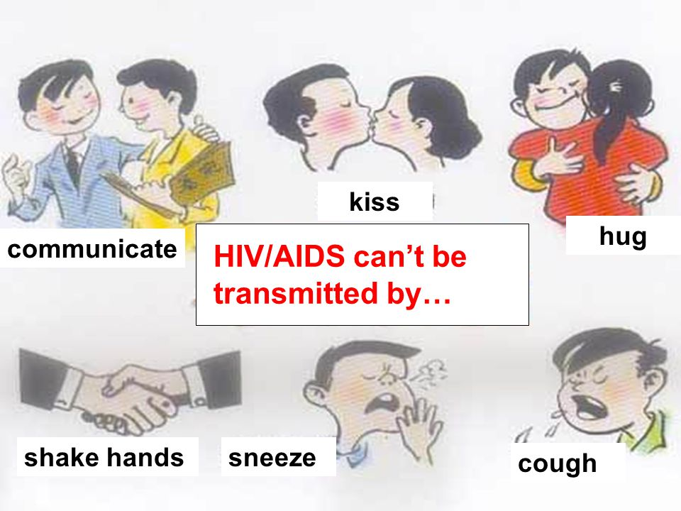 HIV/AIDS can't be transmitted by…