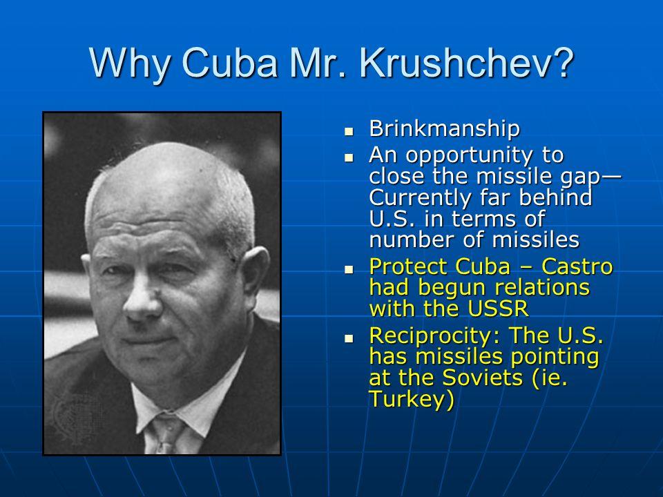 Why Cuba Mr. Krushchev Brinkmanship