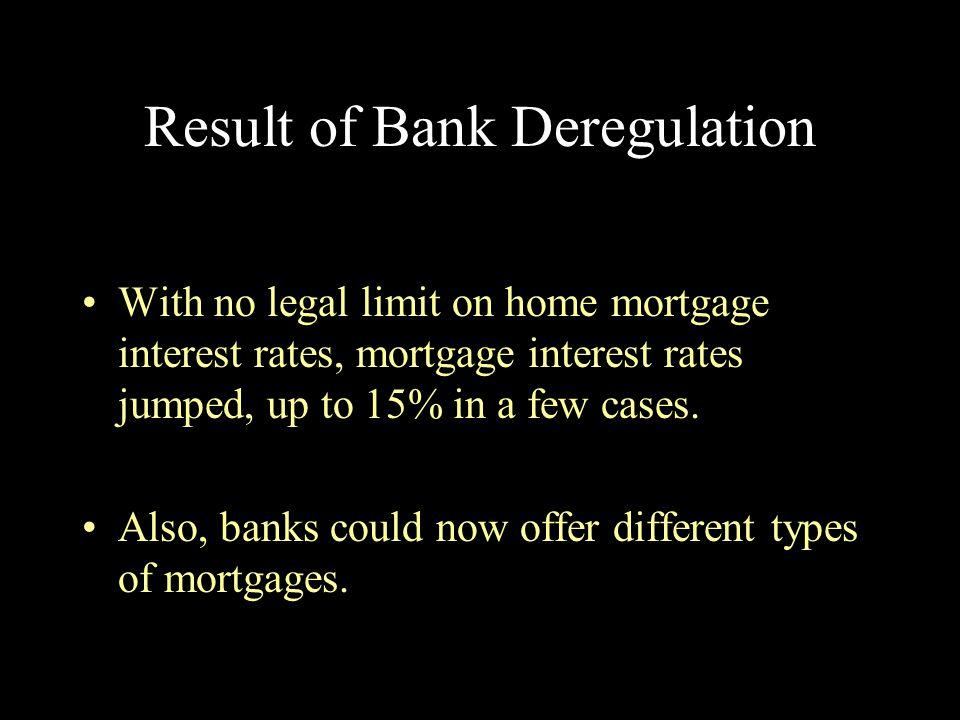 Result of Bank Deregulation