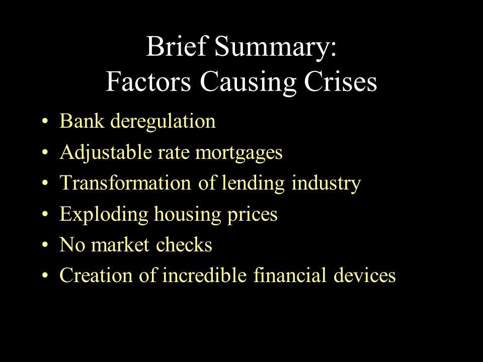 Brief Summary: Factors Causing Crises