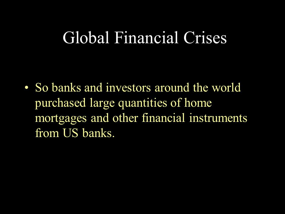 Global Financial Crises
