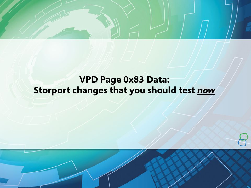 Storport changes that you should test now