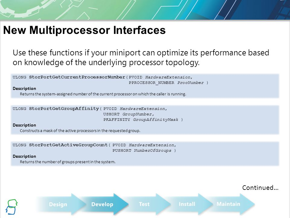New Multiprocessor Interfaces
