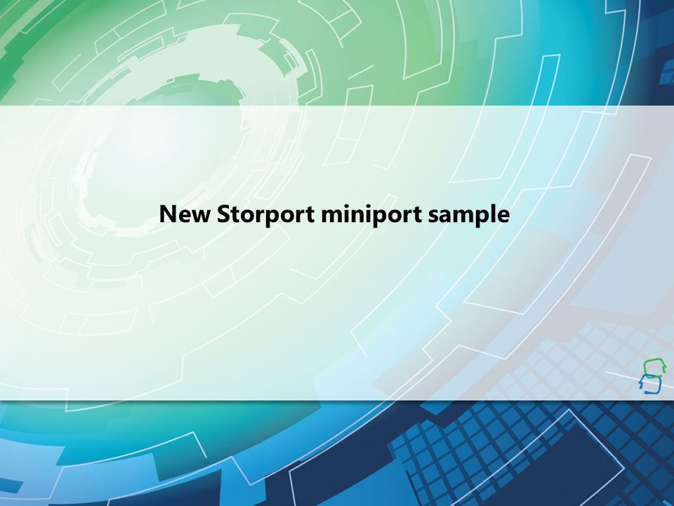 New Storport miniport sample