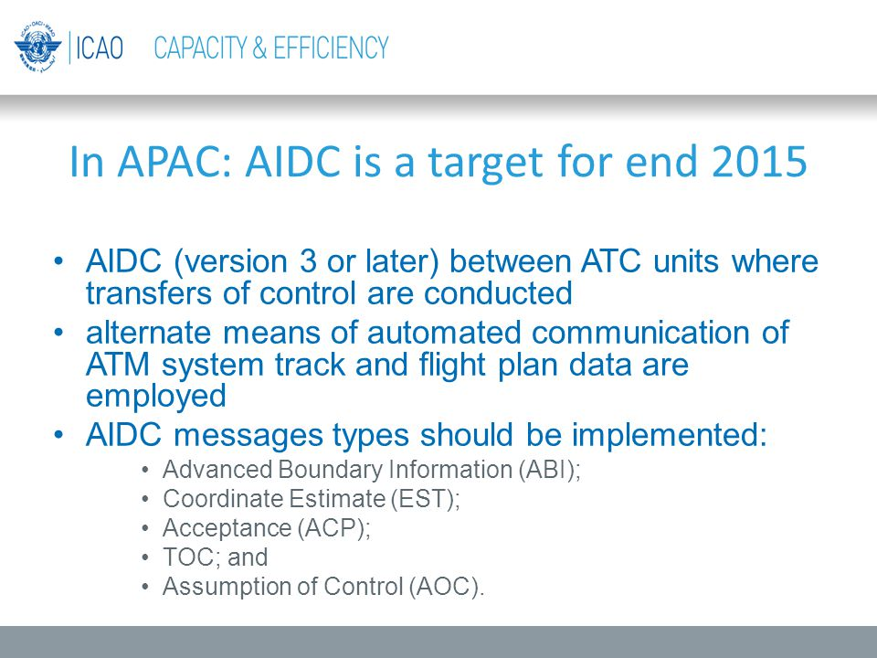 In APAC: AIDC is a target for end 2015