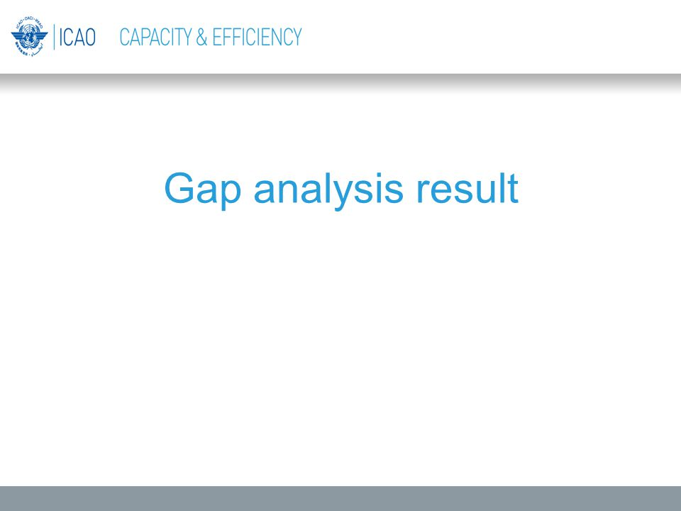 Gap analysis result