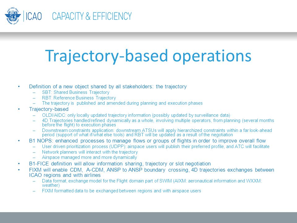 Trajectory-based operations