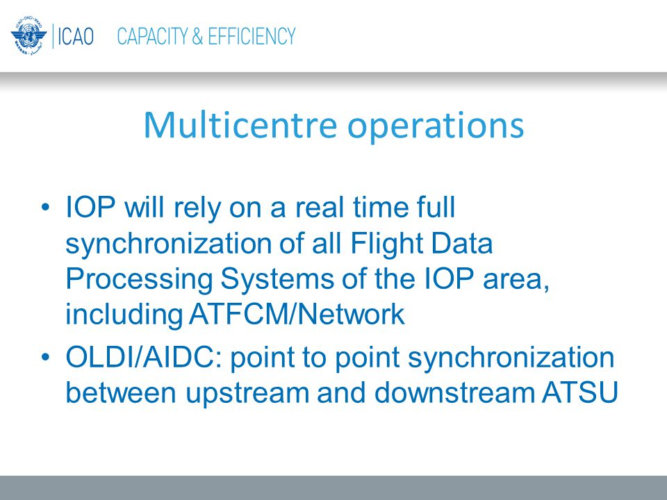 Multicentre operations
