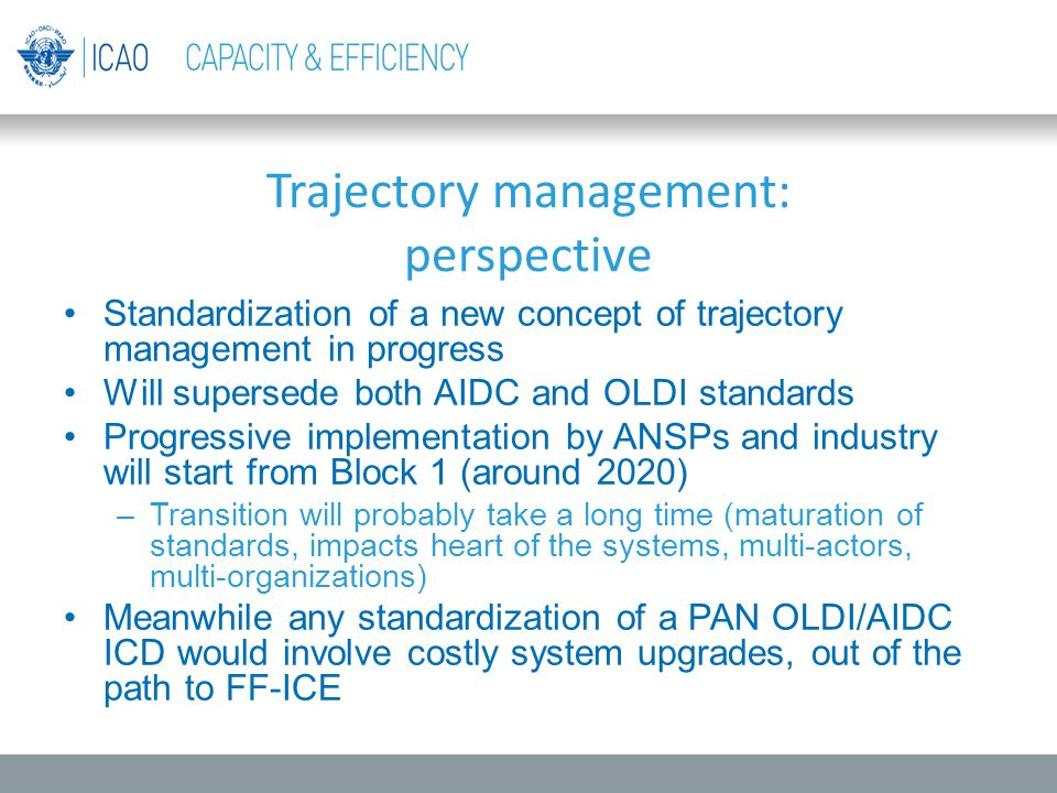 Trajectory management: perspective