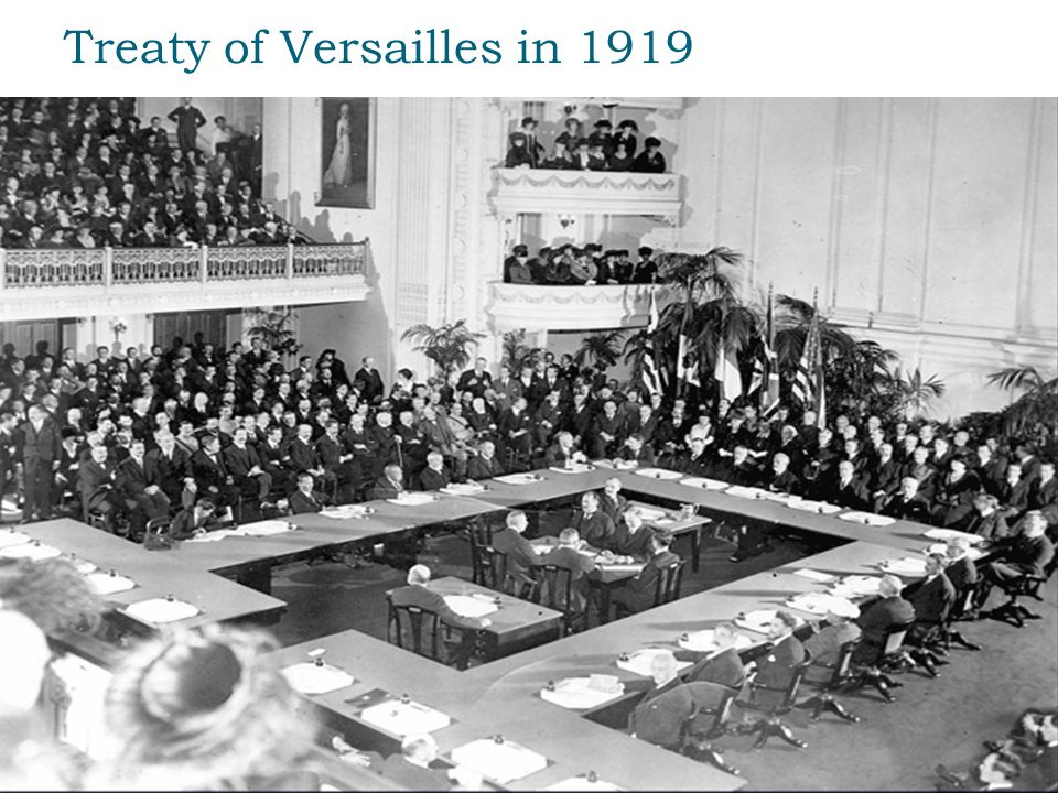 Treaty of Versailles in 1919