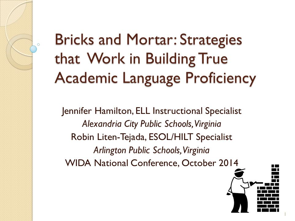Bricks and Mortar: Strategies that Work in Building True Academic Language Proficiency