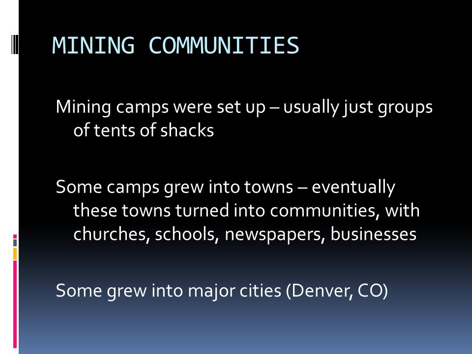 MINING COMMUNITIES