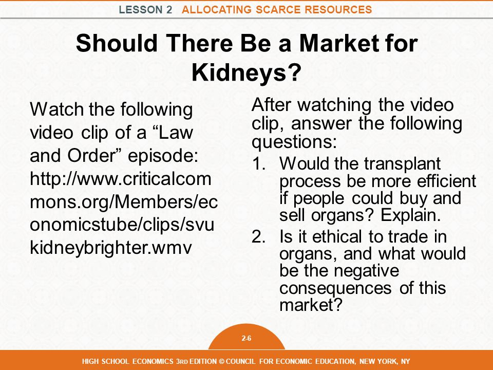 Should There Be a Market for Kidneys