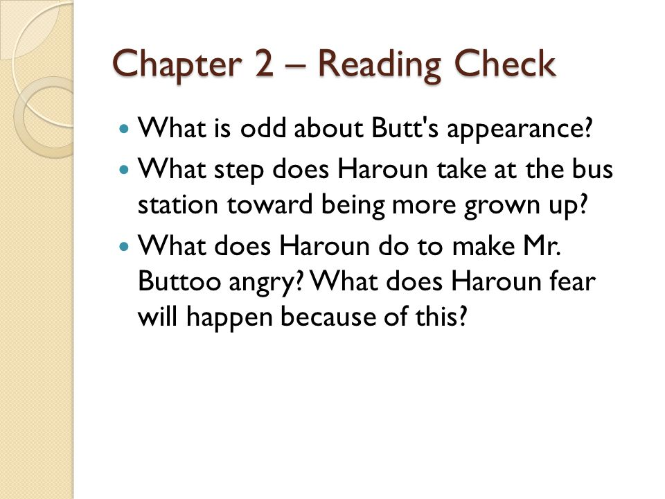 Chapter 2 – Reading Check