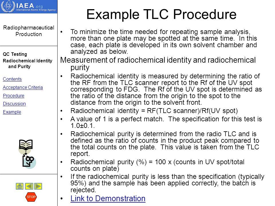 Example TLC Procedure