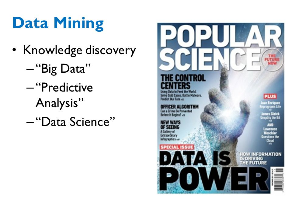 Data Mining Knowledge discovery Big Data Predictive Analysis