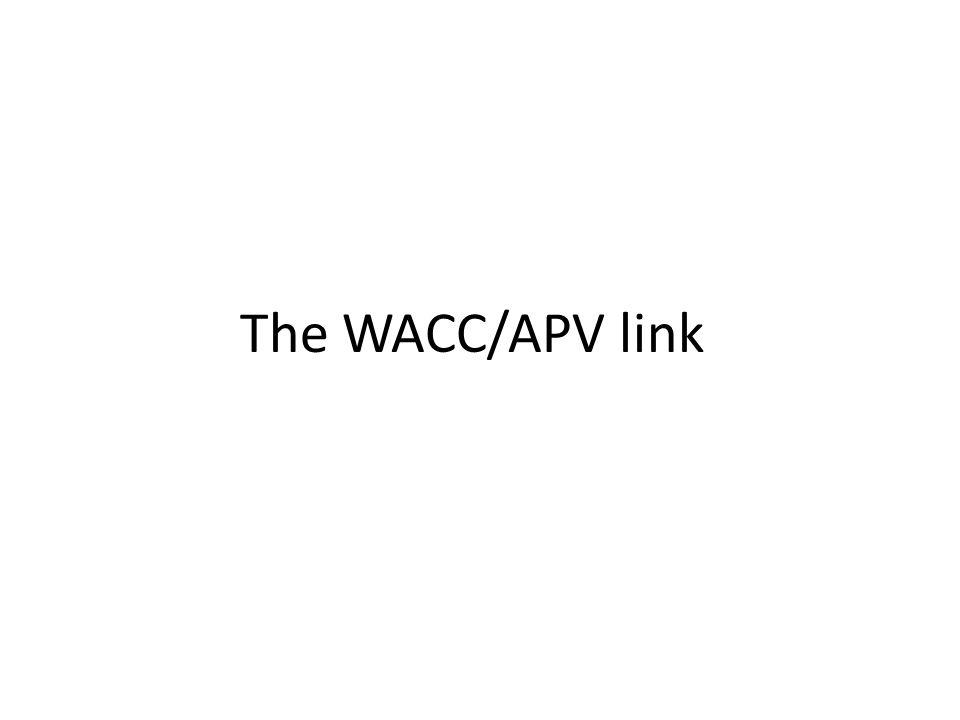 The WACC/APV link