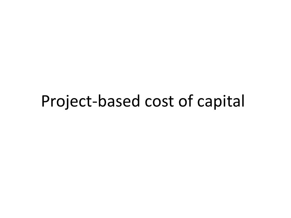 Project-based cost of capital