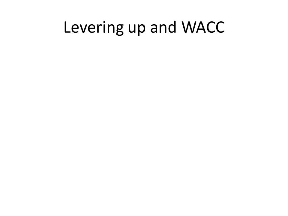 Levering up and WACC