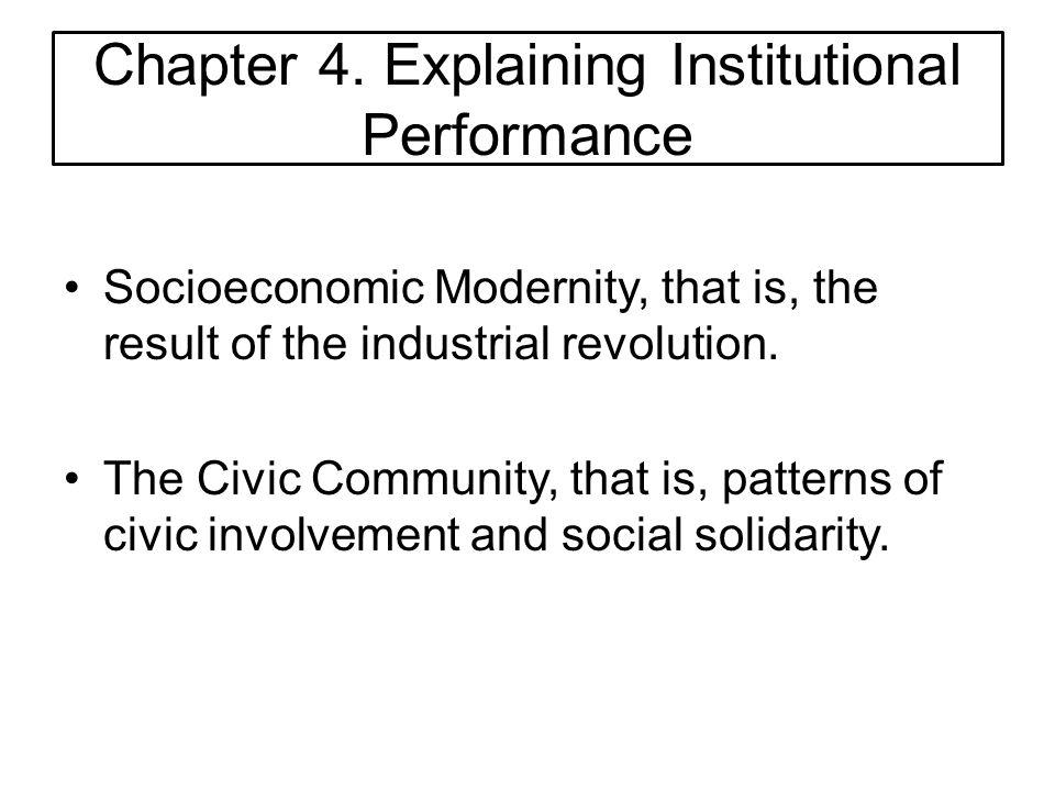Chapter 4. Explaining Institutional Performance