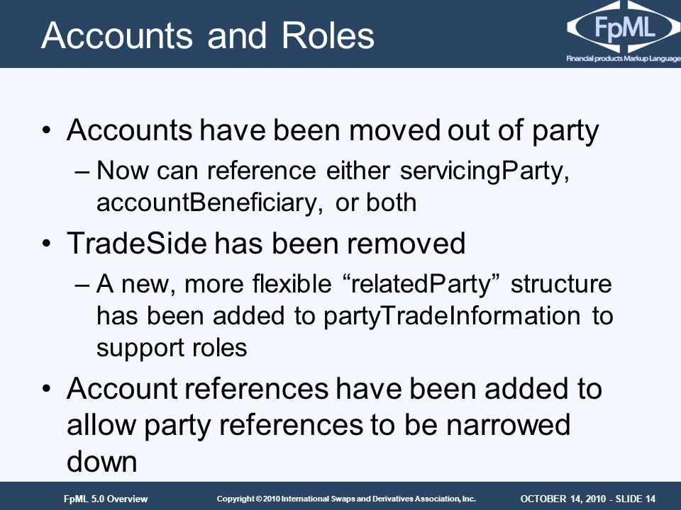 Accounts and Roles Accounts have been moved out of party
