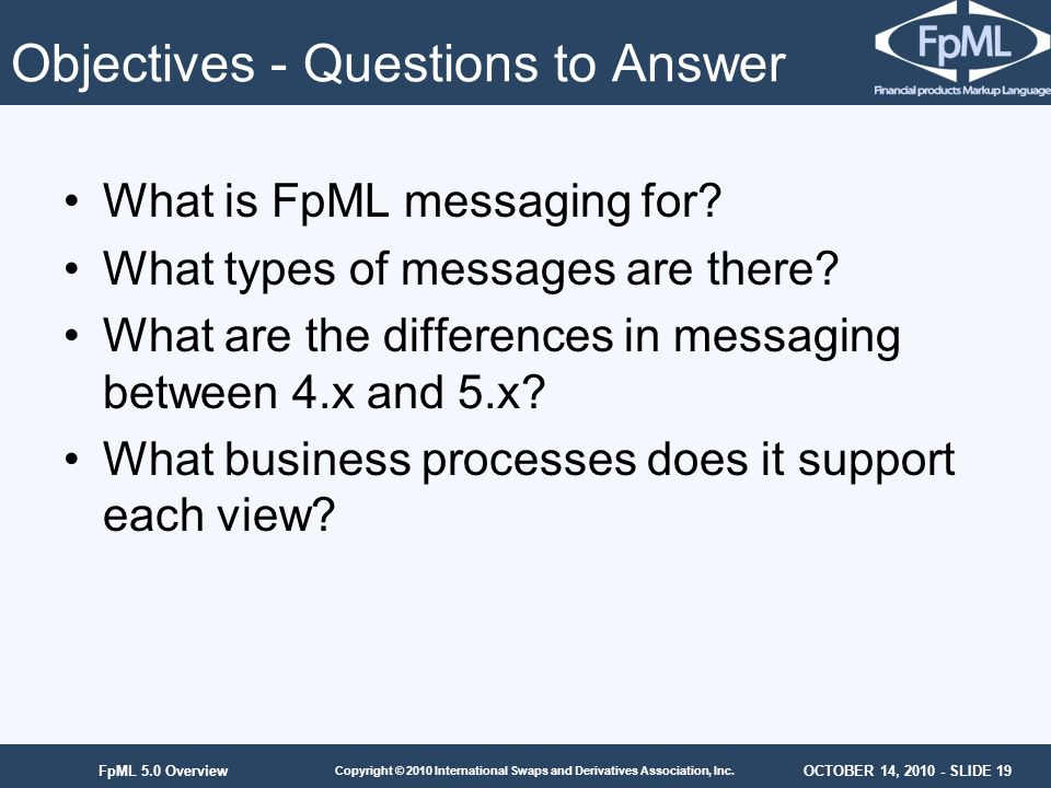 Objectives - Questions to Answer