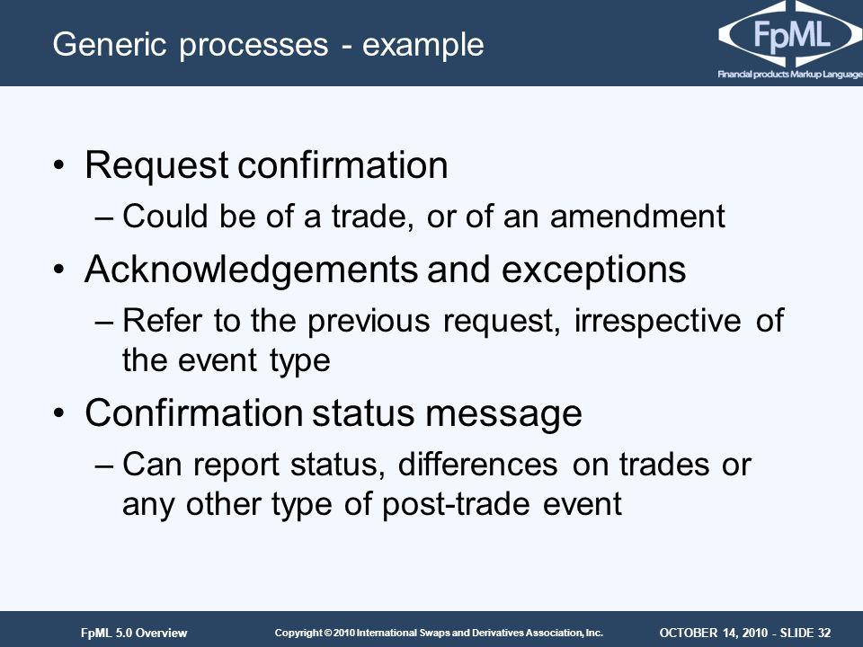 Generic processes - example