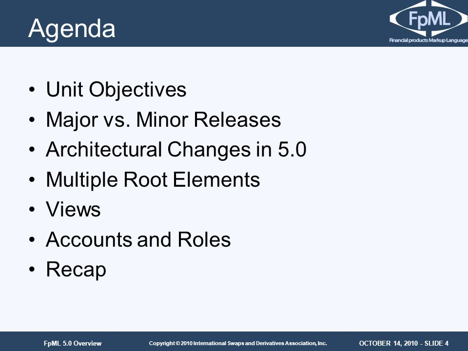 Agenda Unit Objectives Major vs. Minor Releases