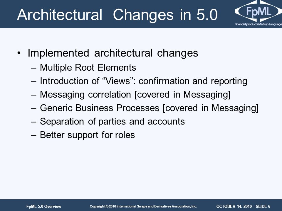Architectural Changes in 5.0