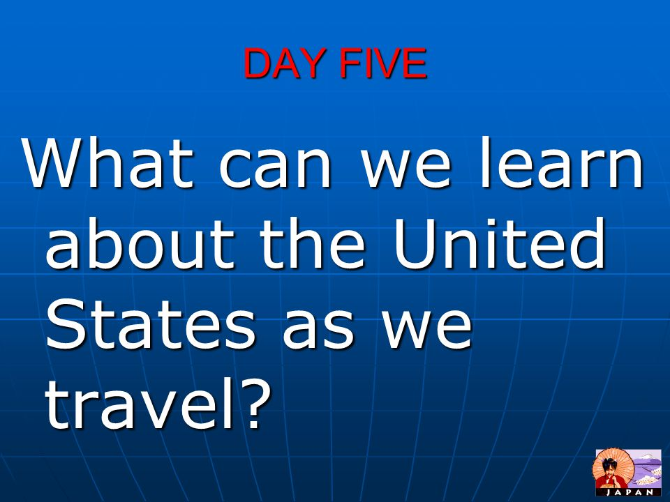 What can we learn about the United States as we travel
