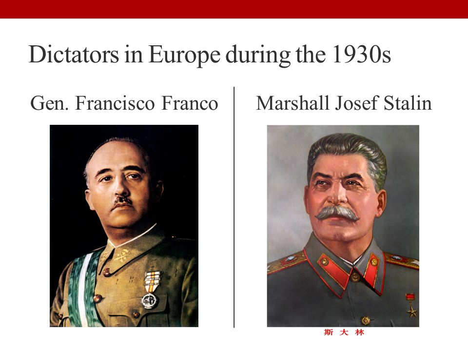 Dictators in Europe during the 1930s