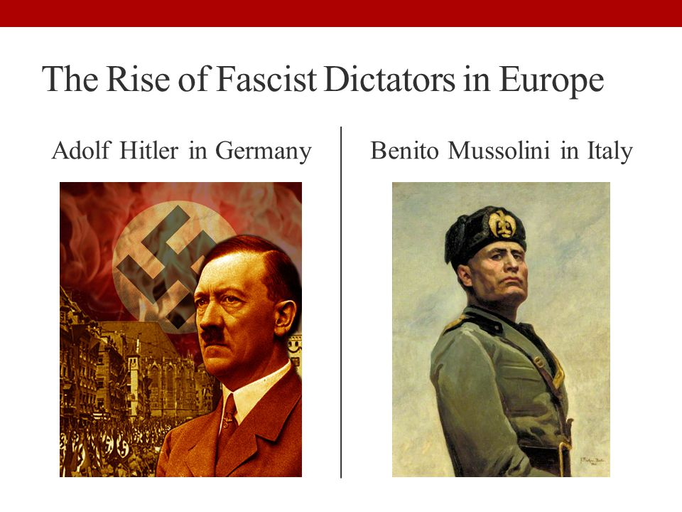 The Rise of Fascist Dictators in Europe