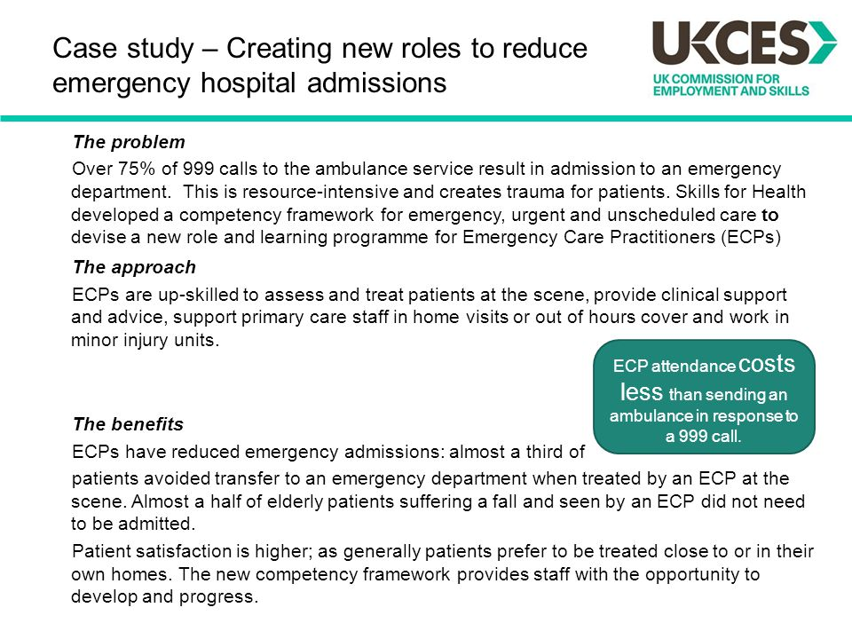 Case study – Creating new roles to reduce emergency hospital admissions